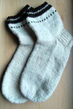 Handmade 100% Organic lambswool mens socks 9  BRAND NEW