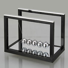 Black Newtons Cradle Fun Steel Balance Ball Physics Science Toy Accessory Gift S