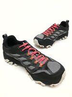 @@ Merrell Men's Moab FST Black Hiking Shoes Vibram Select Dry Sz 7.5 Eu41 EUC