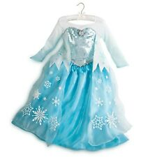 DISNEY STORE ELSA Costume Girl Ice Queen Dress Child Medium 7  8 Frozen