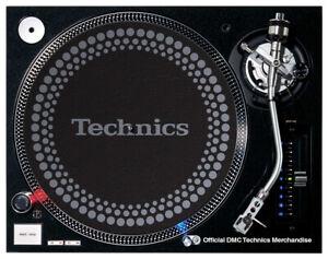 DMC Technics Dot Slipmats - Black / Silver - (1 x pair) OFFICIAL MERCHANDISE
