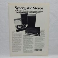 RCA SYNERGISTIC STEREO 1969 VINTAGE ADVERTISING MAGAZINE PAGE