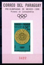 Paraguay 1966 OLIMPIADI OLYMPICS Mexico blocco 82 ** MNH