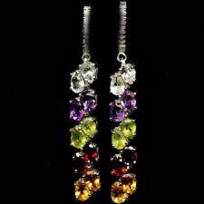 Leverback Citrine Drop/Dangle Natural Fine Earrings