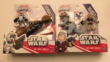 Star Wars Galactic Heroes Han Solo & Tauntaun + Scout Speeder Figure Bundle