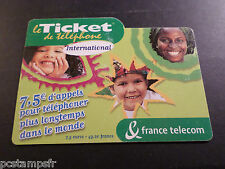 Phone Card France, Ticket International Telecom, Used, Phone Card