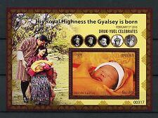 More details for bhutan 2016 mnh birth hrh gyalsey royal baby druk gyalpo 1v s/s royalty stamps