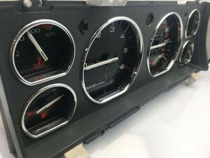 Jeep Cherokee XJ 1984-2001    Dash Instrument Chrome Rings Polished Aluminium X6