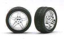 Pegasus 1222 x 1/24-1/25 Elite Chrome Rims w/Tires (4)