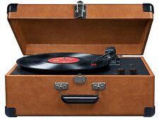 CROSLEY CR49-TA Tan Traveler Portable Record Turntable Built in Speakers phono C