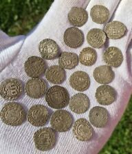 24 PIECES MEDEIVAL SILVER HUNGARY DENARIUS PATRONA - 16th CENTURY / TO IDENTIFY