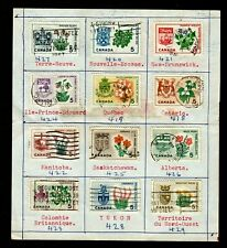 CANADA 417-429 1964-6 PROV. FLOWERS & COATS-OF-ARMS ON XMAS CARD GEOGRAP. ORDER
