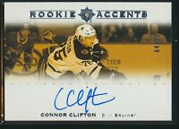 2019-20 Upper Deck Ultimate Collection Rookie Accents Auto Connor Clifton 64/99