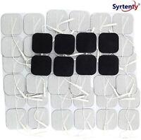 Syrtenty TENS Unit Electrodes Pads 2x2 44 Pcs Replacement Pads Electrode Patc...