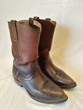 Browning Men's Hypalon Armour Tred Brown Western Cowboy Boots Size 8