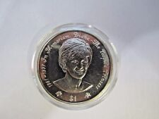 * 1997 SILVER TONE PRINCESS DIANA ONE DOLLAR COIN IN PLASTIC CASE