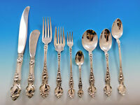Violet by Wallace Sterling Silver Flatware Service for 8 Set 77 pcs no monograms