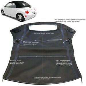 Volkswagen New Beetle 2003-2010 Convertible Top Black Cloth Power Frame Top