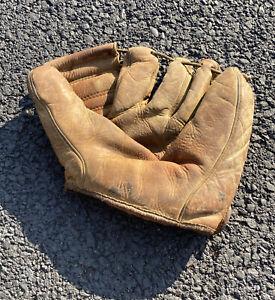 Vintage Dimaggio Type Five Finger Leather Baseball Glove Mitt Antique Rawhide