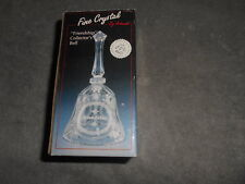 """Vintage Artmark Crystal Glass Bell, 1994 Collectible 5"""" Bell ''Friendship ''"""