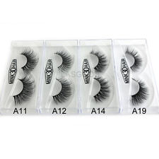 4 Pairs Hot Sale 3D False Eyelashes Luxurious 100% Siberian Mink Fur Lashes Set