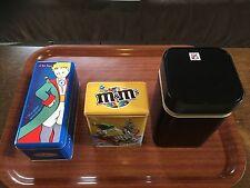 Lot Boîte à gâteau métallique Delacre Box en métal M&M's