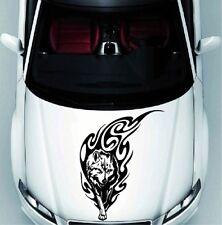 Walking Wolf Tribal Flames Animal Vinyl Decal Car Hood Sticker Vehicle Auto 1240