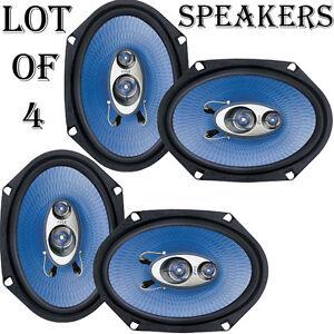 Quantity 4: Pyle PL683BL 6'' x 8'' 360 Watt 3-Way Car Speakers