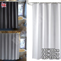 100% POLYESTER FABRIC MODERN DESIGNER WASHABLE SHOWER CURTAIN w/12 HOOKS 180x180