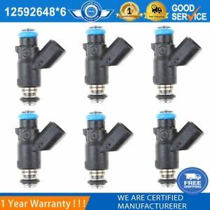 6PCS Fuel Injector 12592648 Fits For Saturn-Pontiac-Chevrole-Buick 3.5-3.9L New