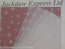 25 x A4 100gsm Printed Translucent Vellum Paper - White Snowflakes AM518