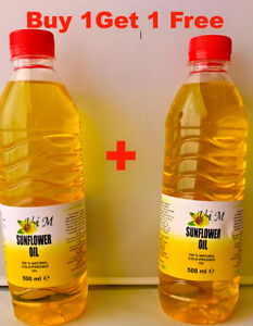 100% Natural Cold Pressed Organic Sunflower Seed Oil- Freshly Produced