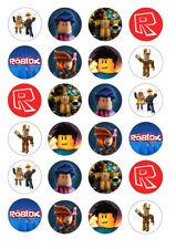 24 Roblox Gaming 4cm round cupcake edible images