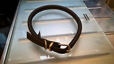 D&H Dogs & Horses Soft Rolled Leather Dog Collar Brown XX Large XXL 57-63cm