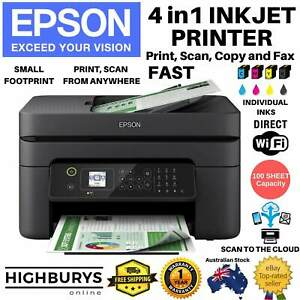 4in1 Inkjet Printer Epson Workforce Scanner Wireless USB Copier Fax Office MFC