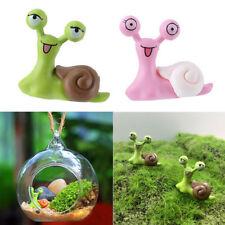 QA_ LK_ EG_ 2Pcs Miniature Snail Garden Ornament Dollhouse DIY Scenery Decorat