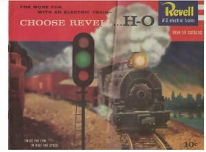 Vintage 1958-59 Revell H-O Electric Trains Catalog  nice