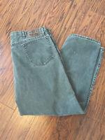 "Vintage USA-Made Wrangler Green Denim Straight Leg Jeans - 42"" x 30"" (41"" x 29"")"