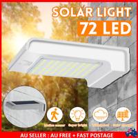 Outdoor 72 LED Solar Wall Light PIR Motion Sensor Garden Lamp Walkway Light USA