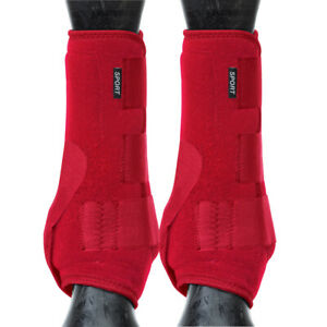 Weaver Horse Front Boots Synergy Sport Athletics Red U-1-03