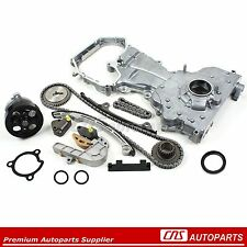 Timing Chain Cover Water Oil Pump Kit for 02-06 Nissan 2.5L QR25DE Altima Sentra