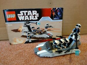 Lego Star Wars 7668 Rebel Scout Speeder with instructions and minifigures