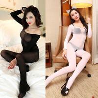 Women Sexy Sheer Tights Pantyhose Bodystocking Bodysuit Stockings Clothing