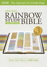 Niv Rainbow Study Bible, Jacketed Hardcover (2015, Hardcover)