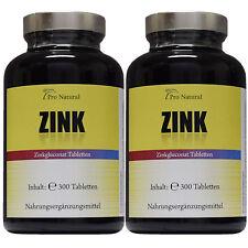 2 Dosen Zink 600 Tabletten a 25mg reines Zinc 181,8mg Gluconat Haare Haut Nägel