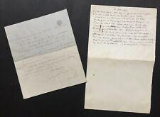 Georges FEYDEAU - Lettre autographe signée + manuscrit autographe – 1903