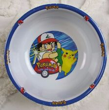 "Pokemon ""Gotta Catch 'Em All"" Plastic Bowl Pikachu Blue Nintendo Vintage 1998"