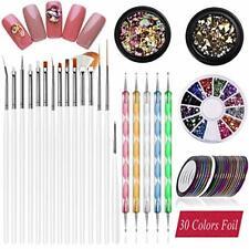Nail Art supplies, JOYJULY 30 Striping tape & 15pcs nail art Brushes Set