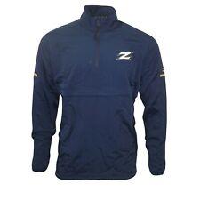Akron Zips NCAA Adidas Men's Navy Blue Game Built 1/4 Zip  Woven Jacket