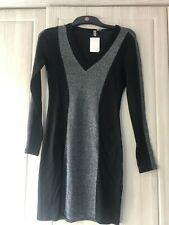 H&m Black & Silver Glitter Bodycon Dress. Size Medium.